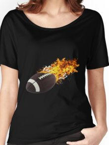 Flaming FootBall Women's Relaxed Fit T-Shirt