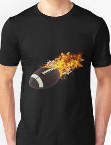 Flaming FootBall T-Shirt