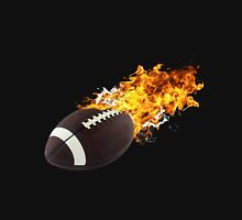 Flaming FootBall Unisex T-Shirt
