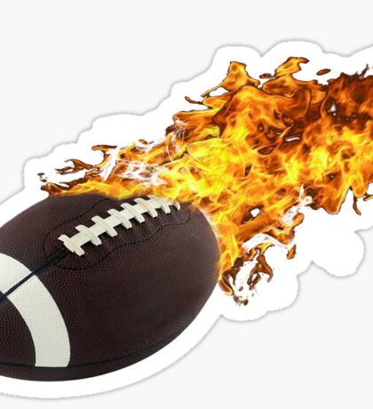 Flaming FootBall Sticker