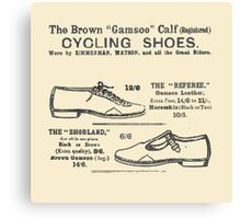 Vintage Bicycle Shoes Advert - Circa 1895 Canvas Print