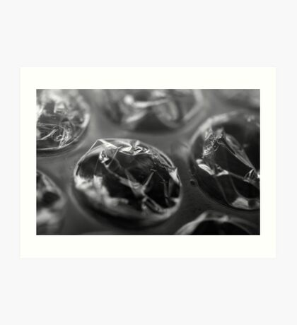 Close up of bubble wrap Art Print