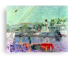 El bote rojo - The red boat Canvas Print