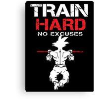Train Hard Goku Canvas Print