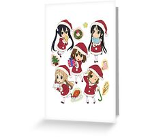 k on christmas Greeting Card