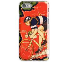 Vintage French bicycle race advert iPhone Case/Skin