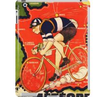 Vintage French bicycle race sport poster art iPad Case/Skin