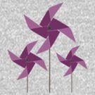 Whimsical Windmills Magenta by antsp35