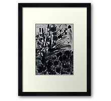 Urban Black-Sumi-e-Art Japanese ink Painting Framed Print