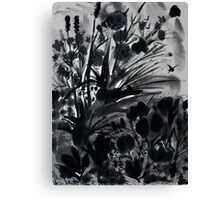 Urban Black-Sumi-e-Art Japanese ink Painting Canvas Print