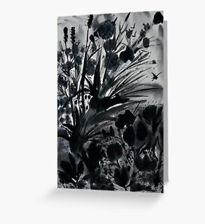 Urban Black-Sumi-e-Art Japanese ink Painting Greeting Card