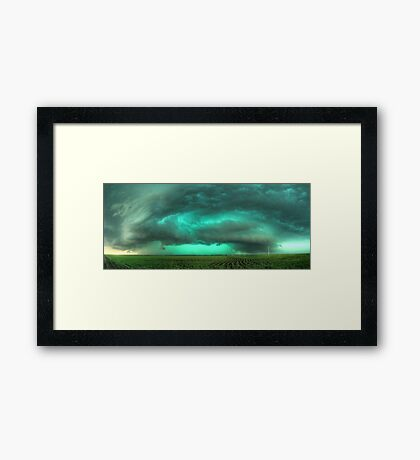 Beast of Green - HDR Panorama Framed Print