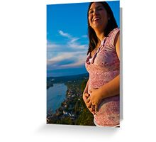 In the belly Greeting Card