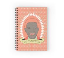 Tata Madiba - A Good Heart (in peach) Spiral Notebook