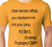 Dear Elected Official Unisex T-Shirt