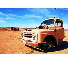 Lonely desert truck Photographic Print