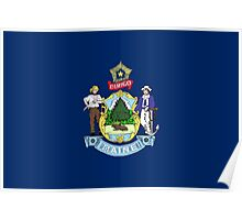 State Flags of the United States of America -  Maine Poster