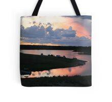 Campers' Sunset at Lake Boondooma Tote Bag