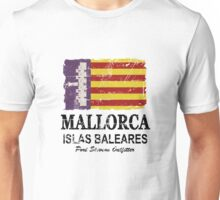 Majorca Flag - Vintage Look Unisex T-Shirt