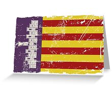 Majorca Flag - Vintage Look Greeting Card