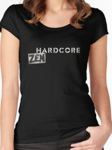 Hardcore Zen Logo Only T-Shirt or Hoodie Women's Fitted Scoop T-Shirt