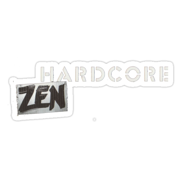 Hardcore Zen Logo Only T-Shirt or Hoodie by Brad Warner