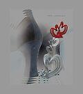 Grey Zing Hearts © Vicki Ferrari by Vicki Ferrari