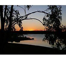 A Bush Sunset at Lake Boondooma Photographic Print