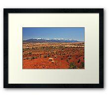 Red Desert Framed Print