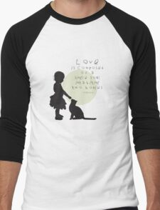 Love Is Men's Baseball ¾ T-Shirt