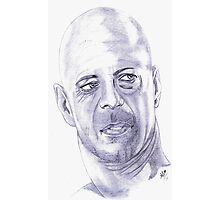 Bruce Willis.....Tribute to Sir  Murphy Photographic Print