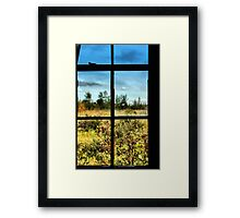 Grass is always greener on the other side Framed Print