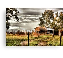Through the fence to Grandmother's house Canvas Print
