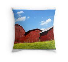 Three Barns Throw Pillow