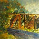 Towards Sunday Creek  . . Victoria Australia by Margaret Morgan (Watkins)