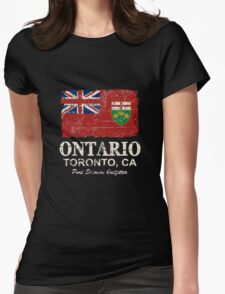 Ontario Flag - Vintage Look Womens Fitted T-Shirt