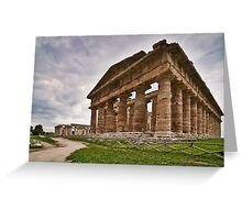 View of the Temples - Paestum, Salerno, Italy Greeting Card