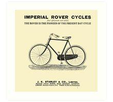 VINTAGE IMPERIAL ROVER CYCLE ADVERT - Circa 1895 Art Print