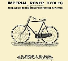 VINTAGE IMPERIAL ROVER CYCLE ADVERT - Circa 1895 by Marlene Watson