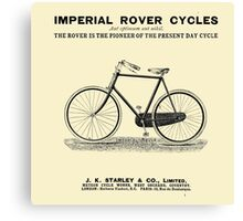 VINTAGE IMPERIAL ROVER CYCLE ADVERT - Circa 1895 Canvas Print