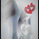 String of Hearts Chain Valentines & Lovers (black) © Vicki Ferrari by Vicki Ferrari