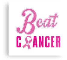 Beat Breast Cancer Metal Print