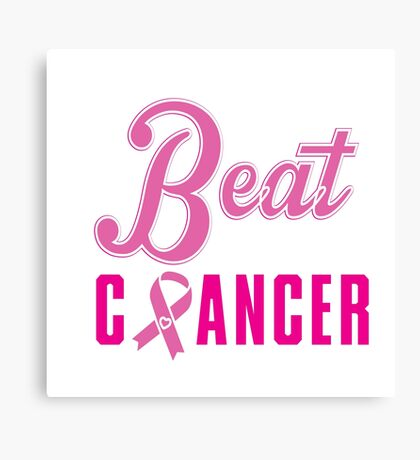 Beat Breast Cancer Canvas Print