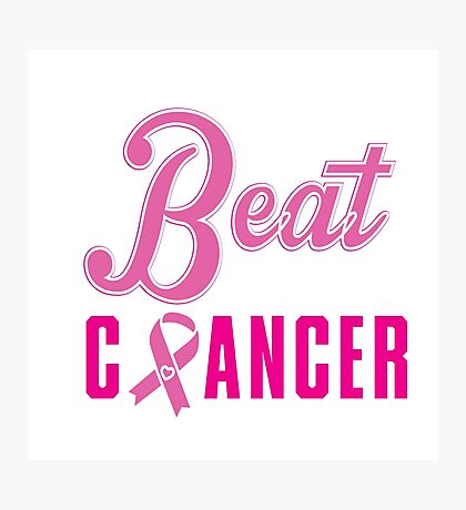 Beat Breast Cancer Photographic Print