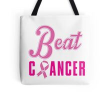 Beat Breast Cancer Tote Bag