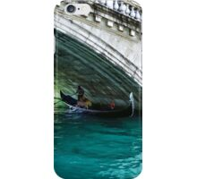 Classic Venice - A Gondola Under Rialto Bridge  iPhone Case/Skin