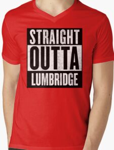 Straight Outta Lumbridge Mens V-Neck T-Shirt
