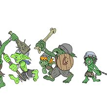 Goblin Charge  by RussellWillCope