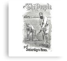 VINTAGE NEWSPAPER COVER - Circa 1895 Canvas Print