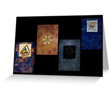 Abstract Conceptual Encaustic Constructs Greeting Card